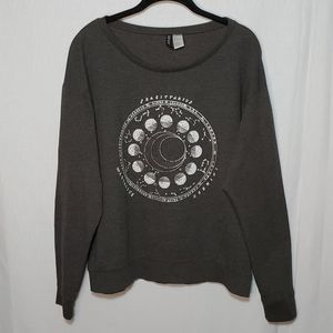 Divided H&M Zodiac Signs Scoop Neck Lounge Sweater